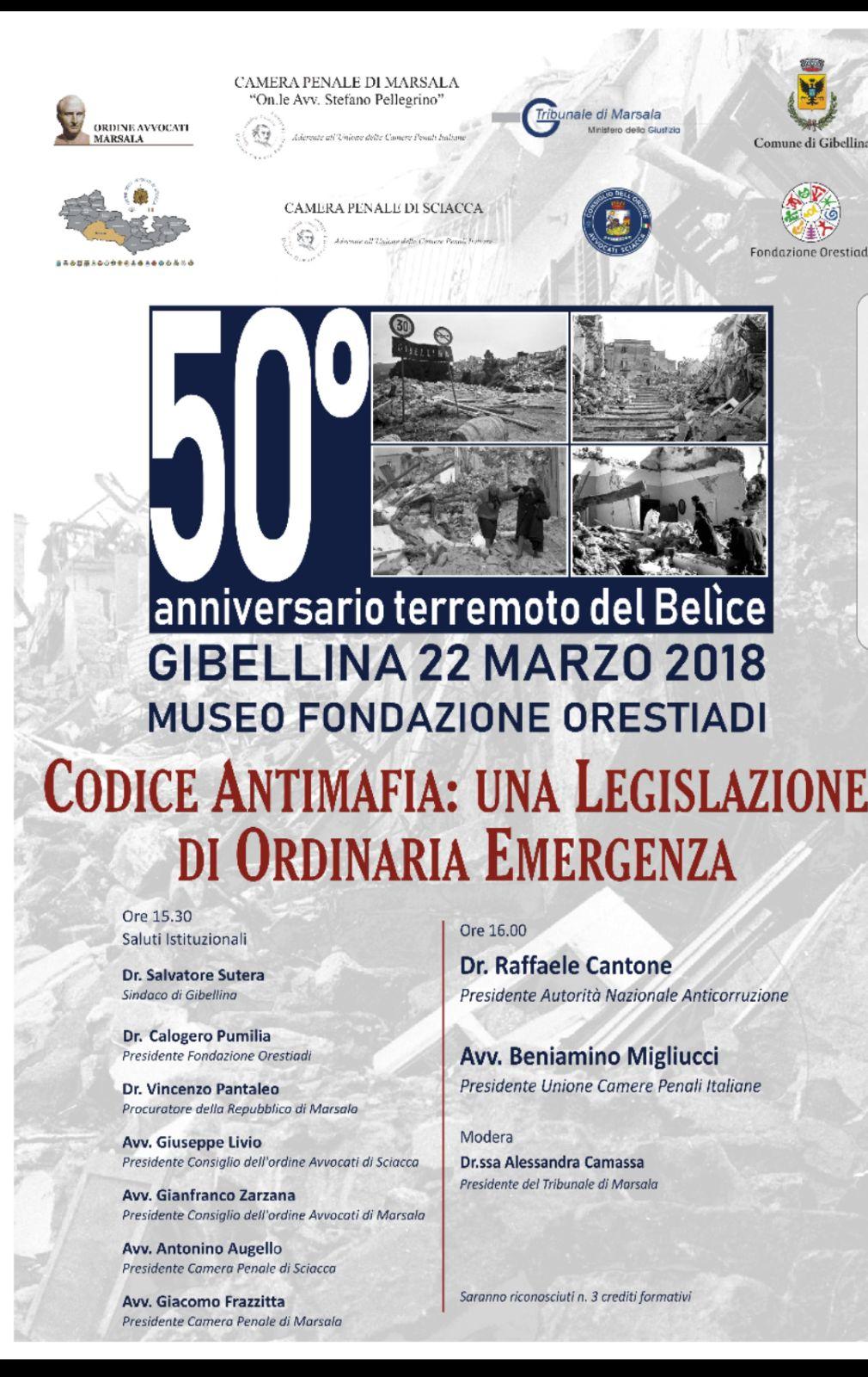 """22 MARZO Convegno """"Codice Antimafia: Una Legislazione Di Ordinaria Emergenza"""""""