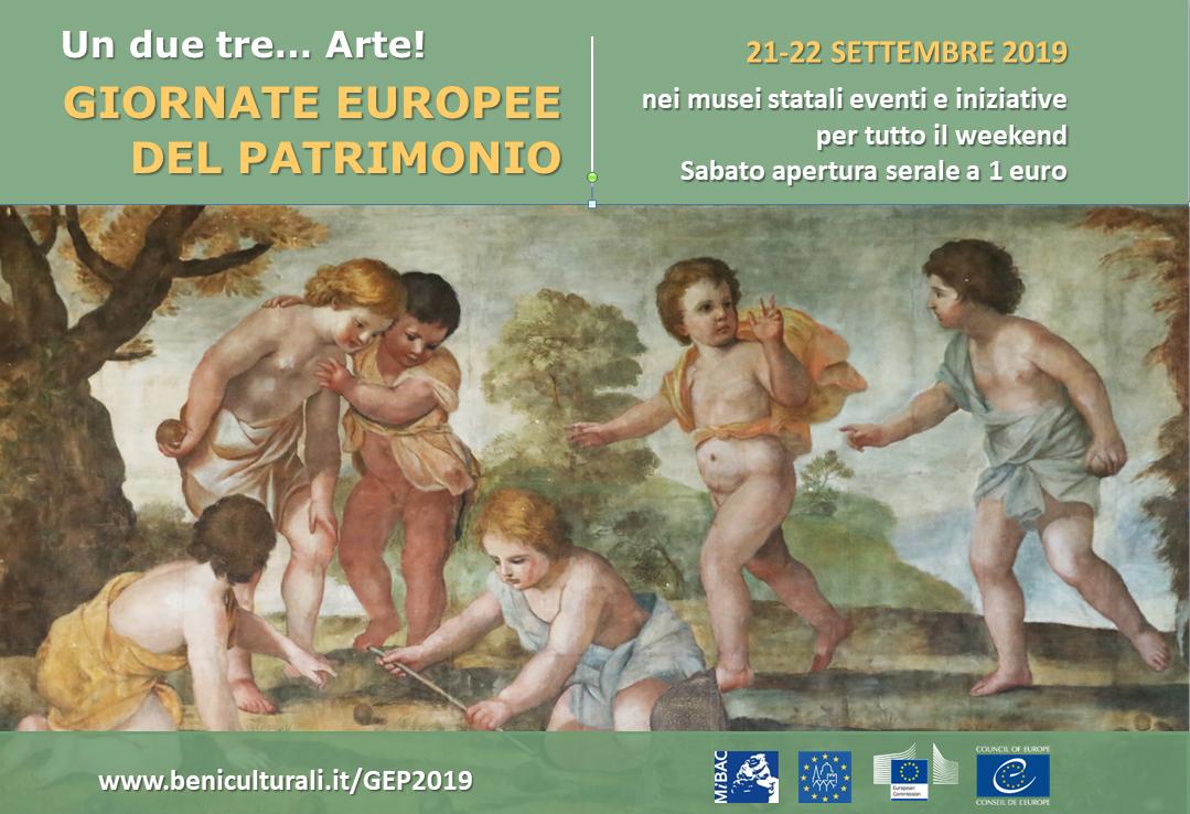 Giornate Europee Del Patrimonio – 21 E 22 Settembre 2019